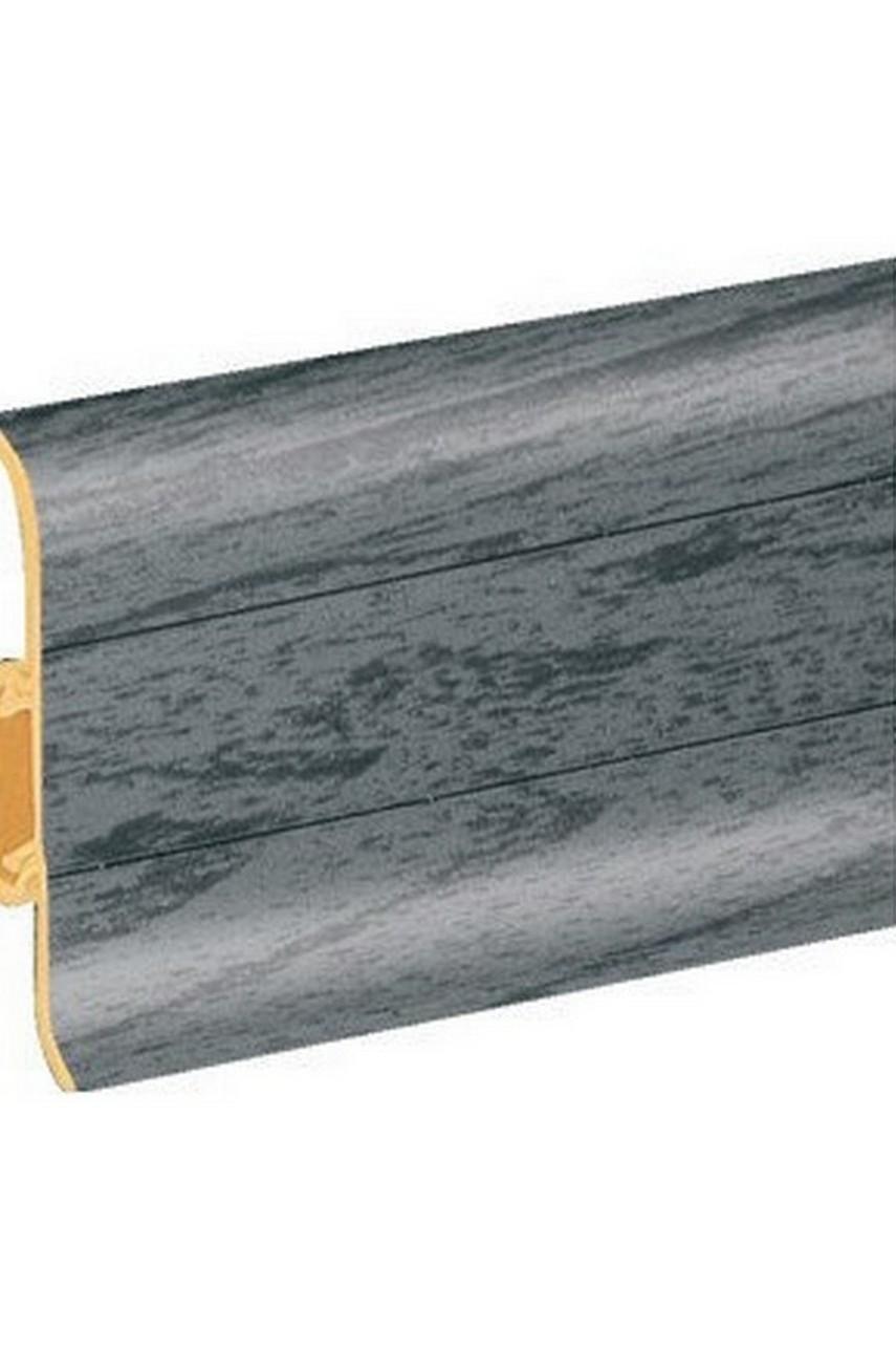 Плинтус напольный 59мм 2,5м CEZAR Premium ПВХ 079 Дуб темно-серый