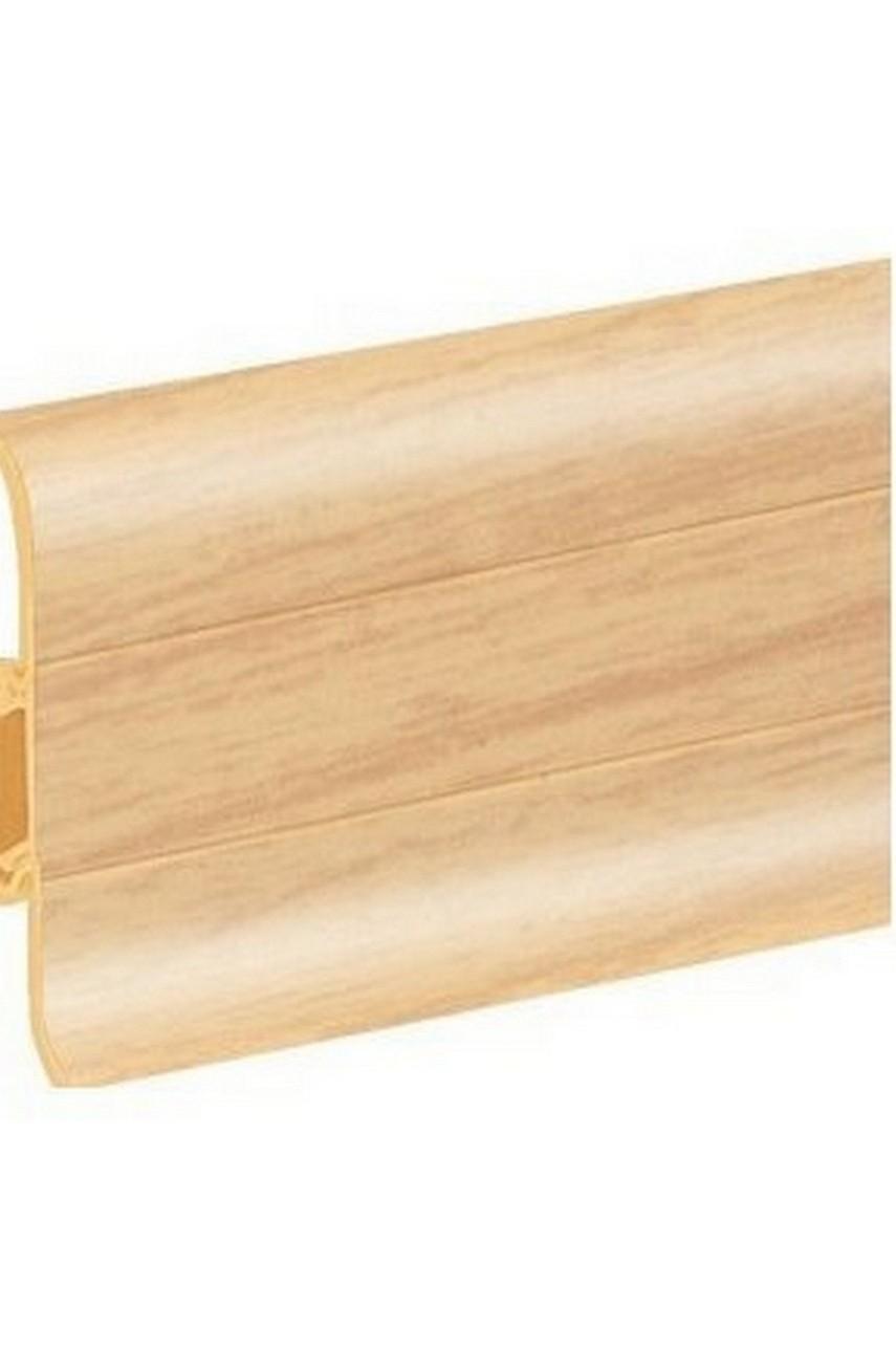 Плинтус напольный 59мм 2,5м CEZAR Premium ПВХ 084 Ясень светлый