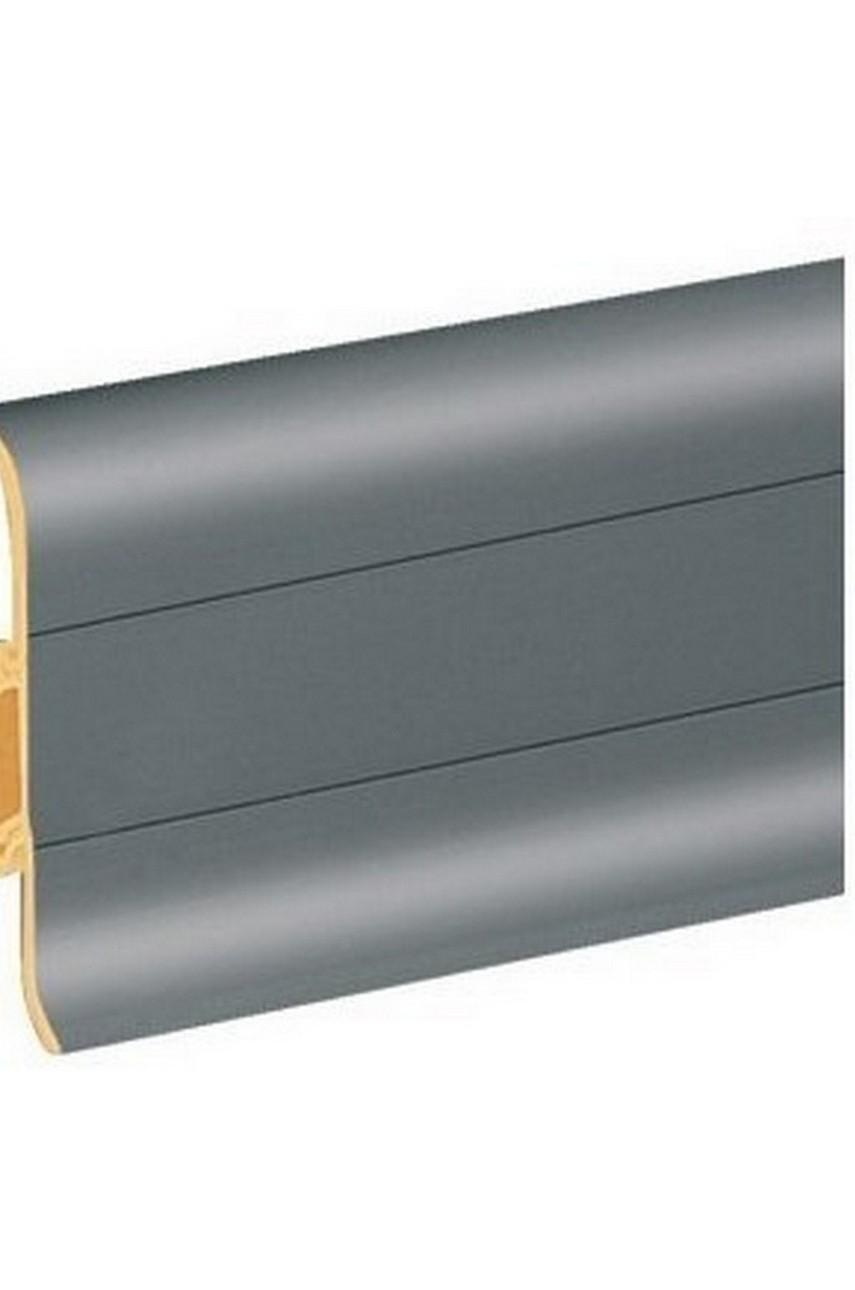 Плинтус напольный 59мм 2,5м CEZAR Premium ПВХ 088 Серый
