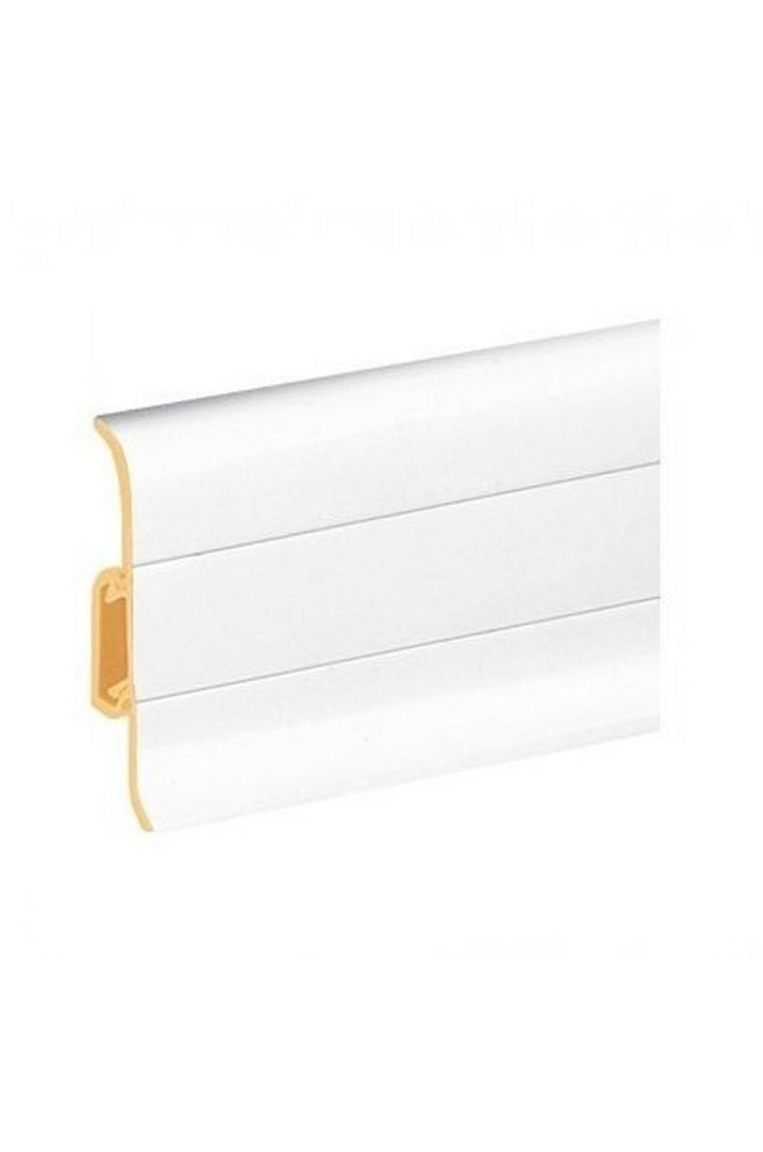 Плинтус напольный 59мм 2,5м CEZAR Premium ПВХ 089 Белый