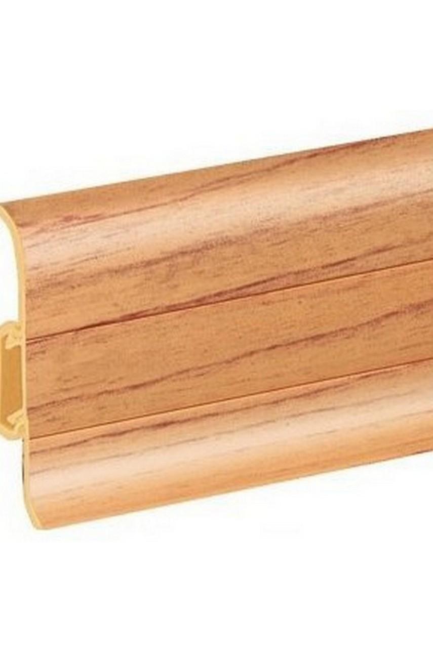 Плинтус напольный 59мм 2,5м CEZAR Premium ПВХ 092 Клен темный