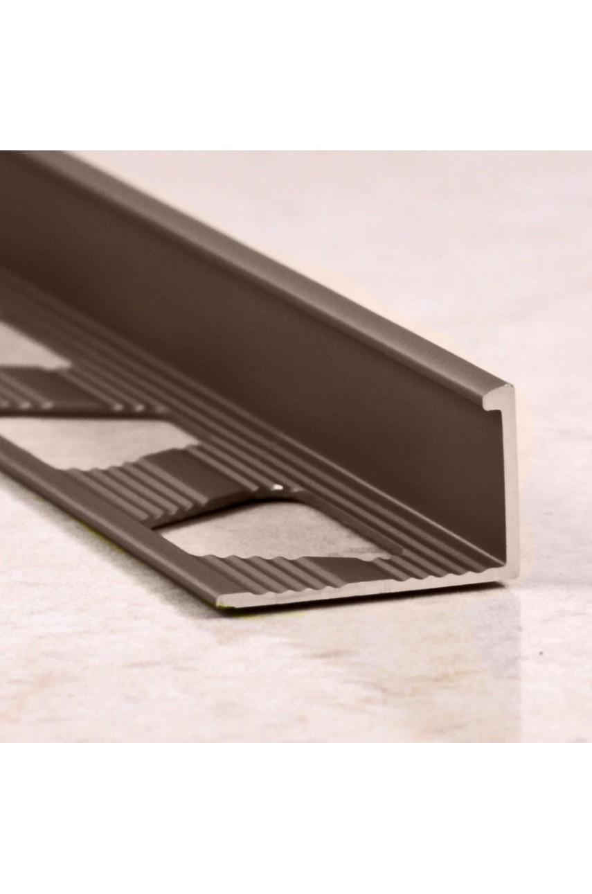 Алюминиевый Г-образный Профиль Бронза Глянец 10мм ПО Г10(гнущаяся)