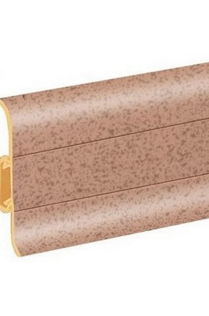 Плинтус напольный 59мм 2,5м CEZAR Premium ПВХ 100 Пятнистый темный
