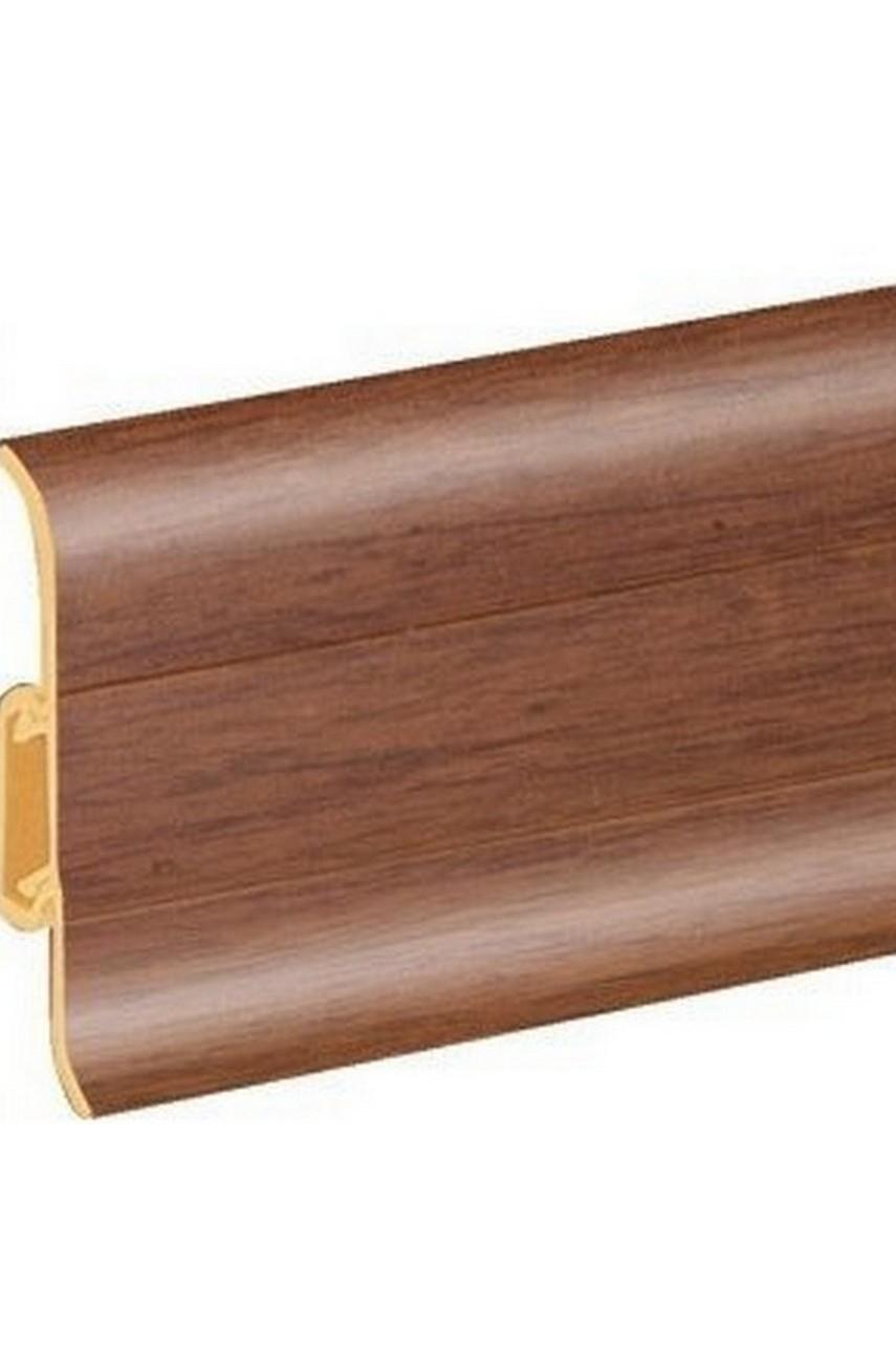Плинтус напольный 59мм 2,5м CEZAR Premium ПВХ 106 Гикори