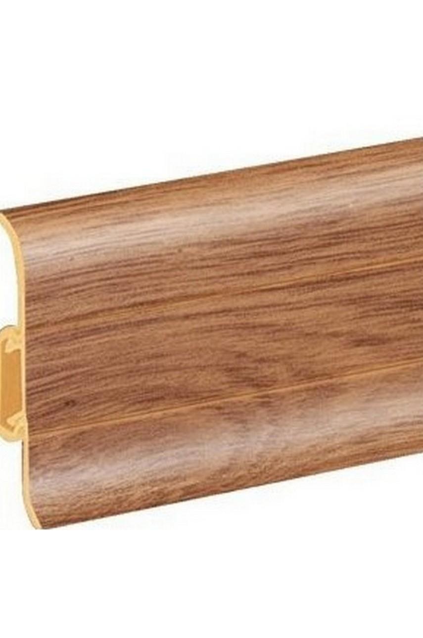 Плинтус напольный 59мм 2,5м CEZAR Premium ПВХ 108 Дуб замковый