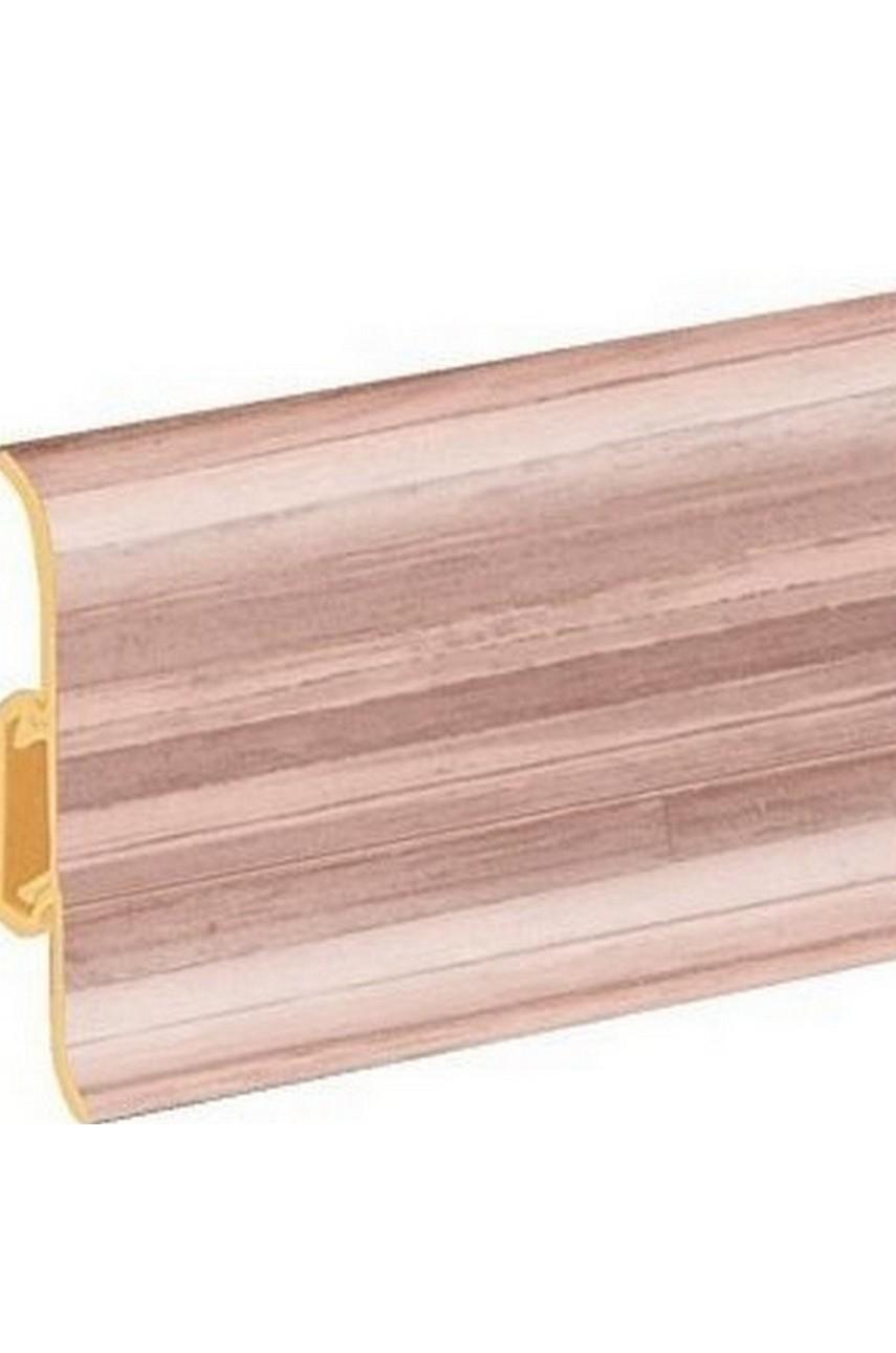 Плинтус напольный 59мм 2,5м CEZAR Premium ПВХ 115 Бамбук африканский