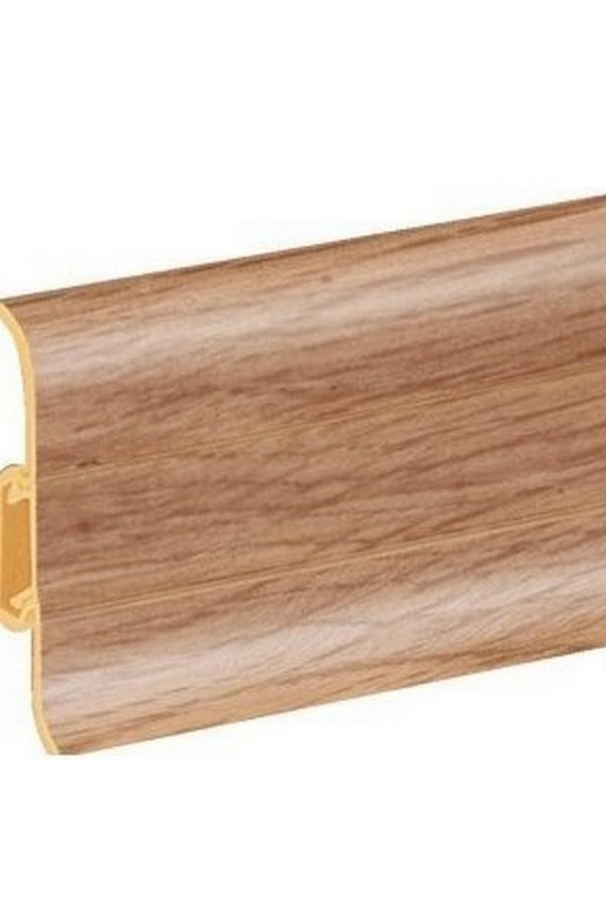 Плинтус напольный 59мм 2,5м CEZAR Premium ПВХ 116 Бамбук тайский