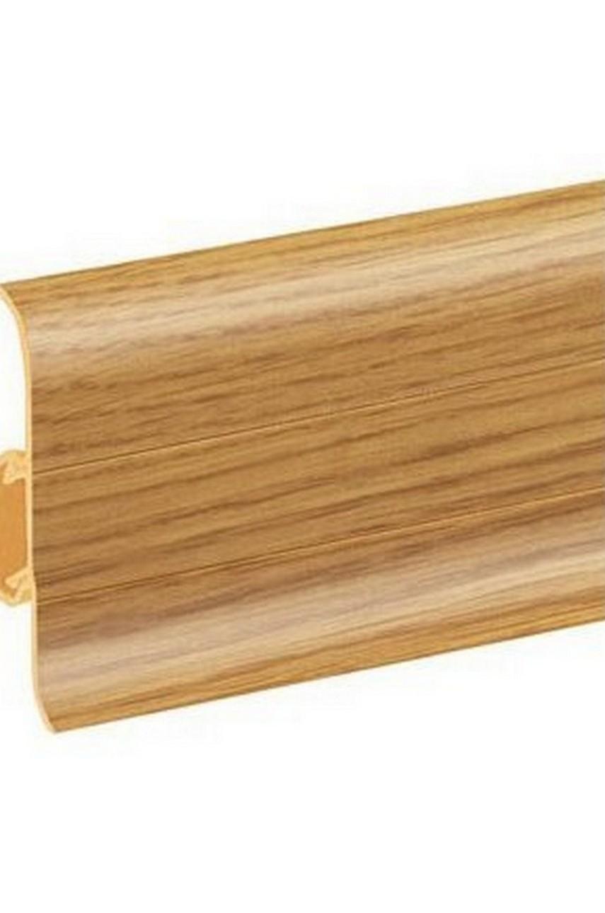 Плинтус напольный 59мм 2,5м CEZAR Premium ПВХ 135 Дуб классик