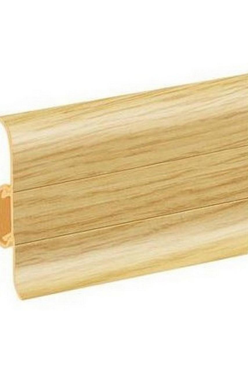 Плинтус напольный 59мм 2,5м CEZAR Premium ПВХ 137 Дуб риверсайд