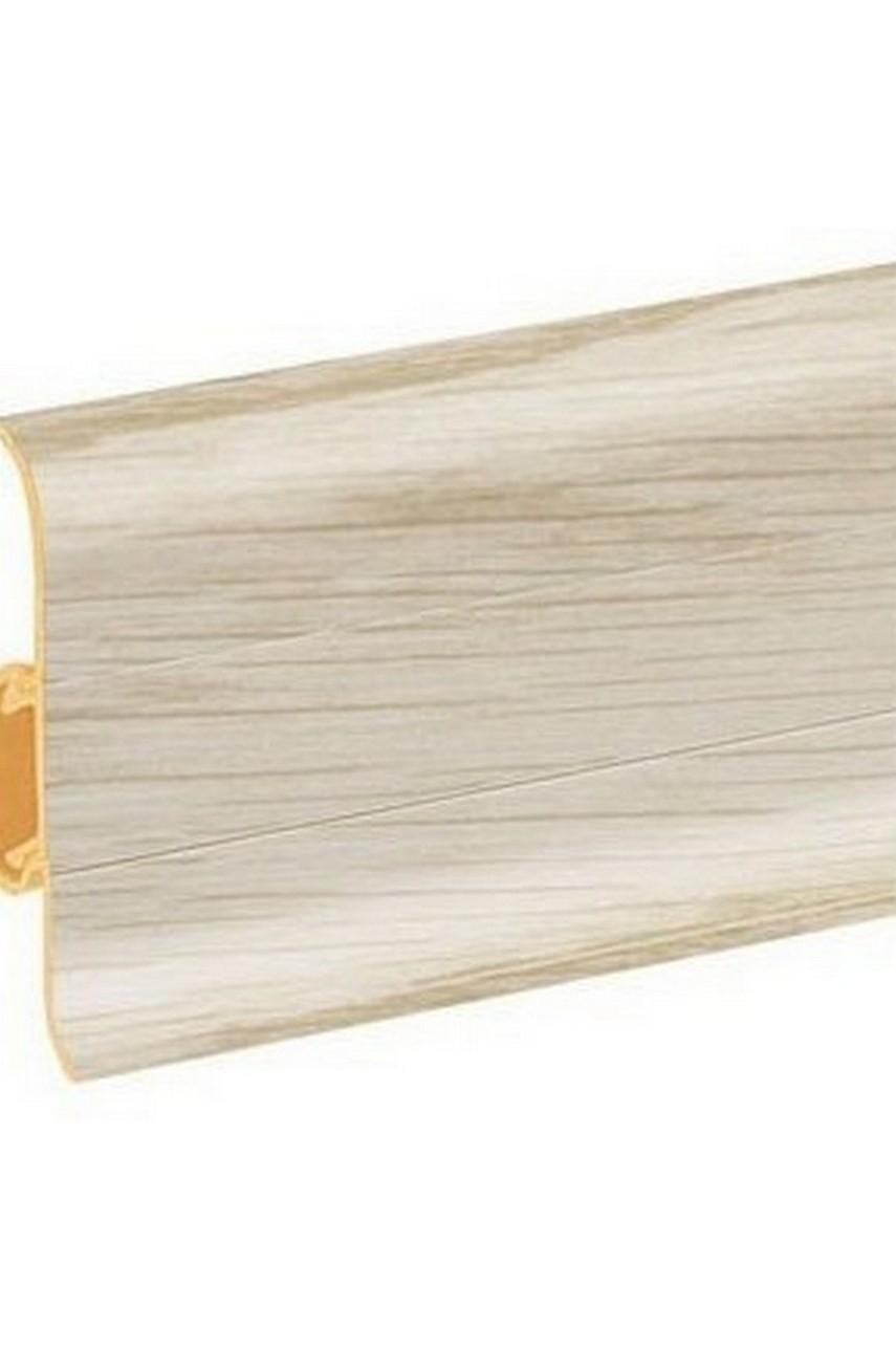 Плинтус напольный 59мм 2,5м CEZAR Premium ПВХ 142 Ясень балтимор