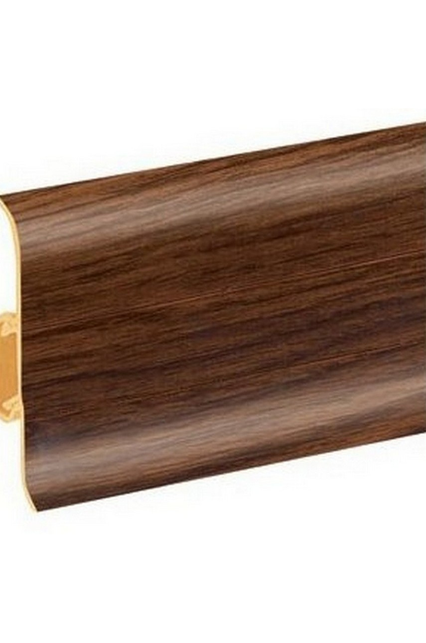 Плинтус напольный 59мм 2,5м CEZAR Premium ПВХ 143 Дуб медол