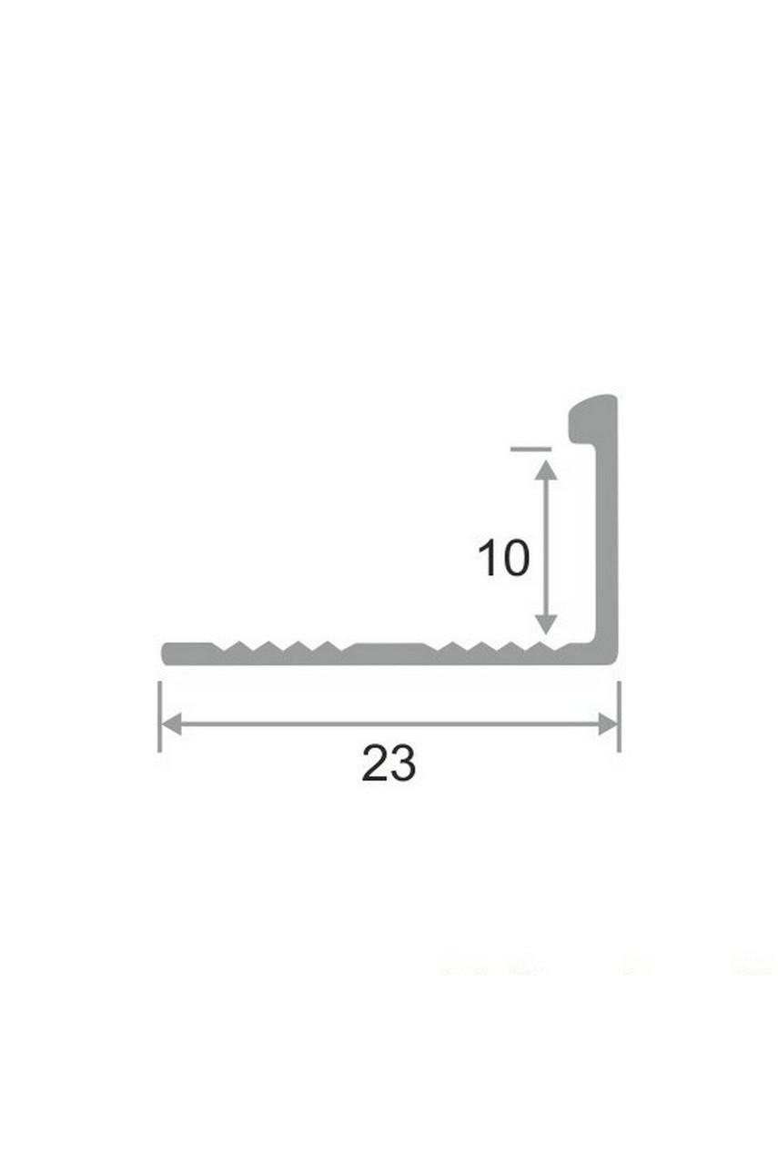 Алюминиевый Г-образный Профиль Серебро Матовый 10мм ПО Г10(гнущаяся)