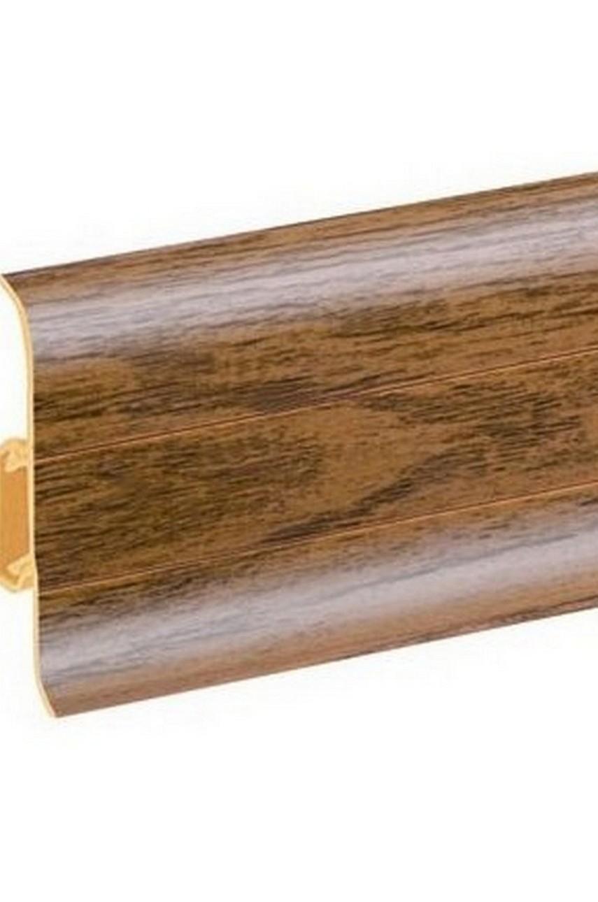 Плинтус напольный 59мм 2,5м CEZAR Premium ПВХ 144 Дуб хардест