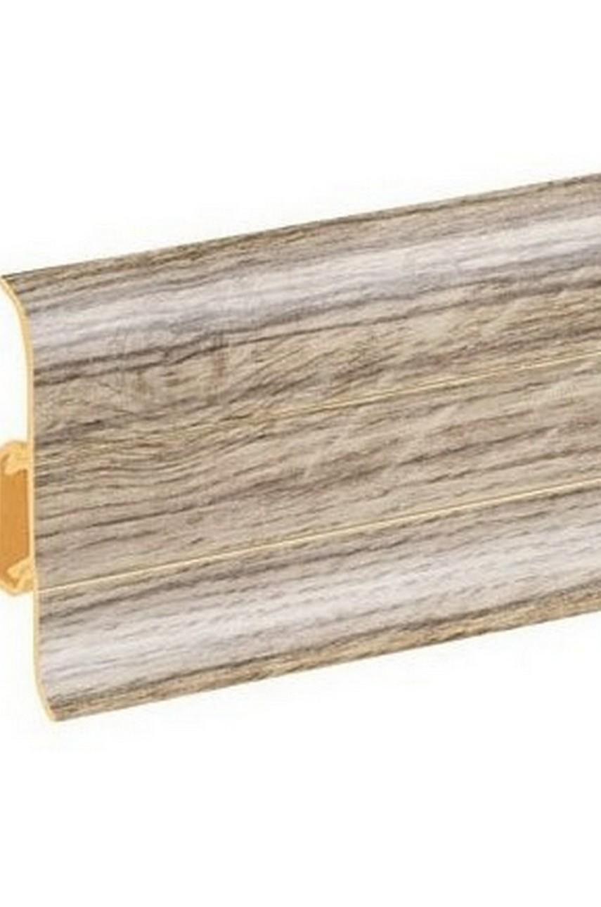 Плинтус напольный 59мм 2,5м CEZAR Premium ПВХ 145 Дуб ричмонд