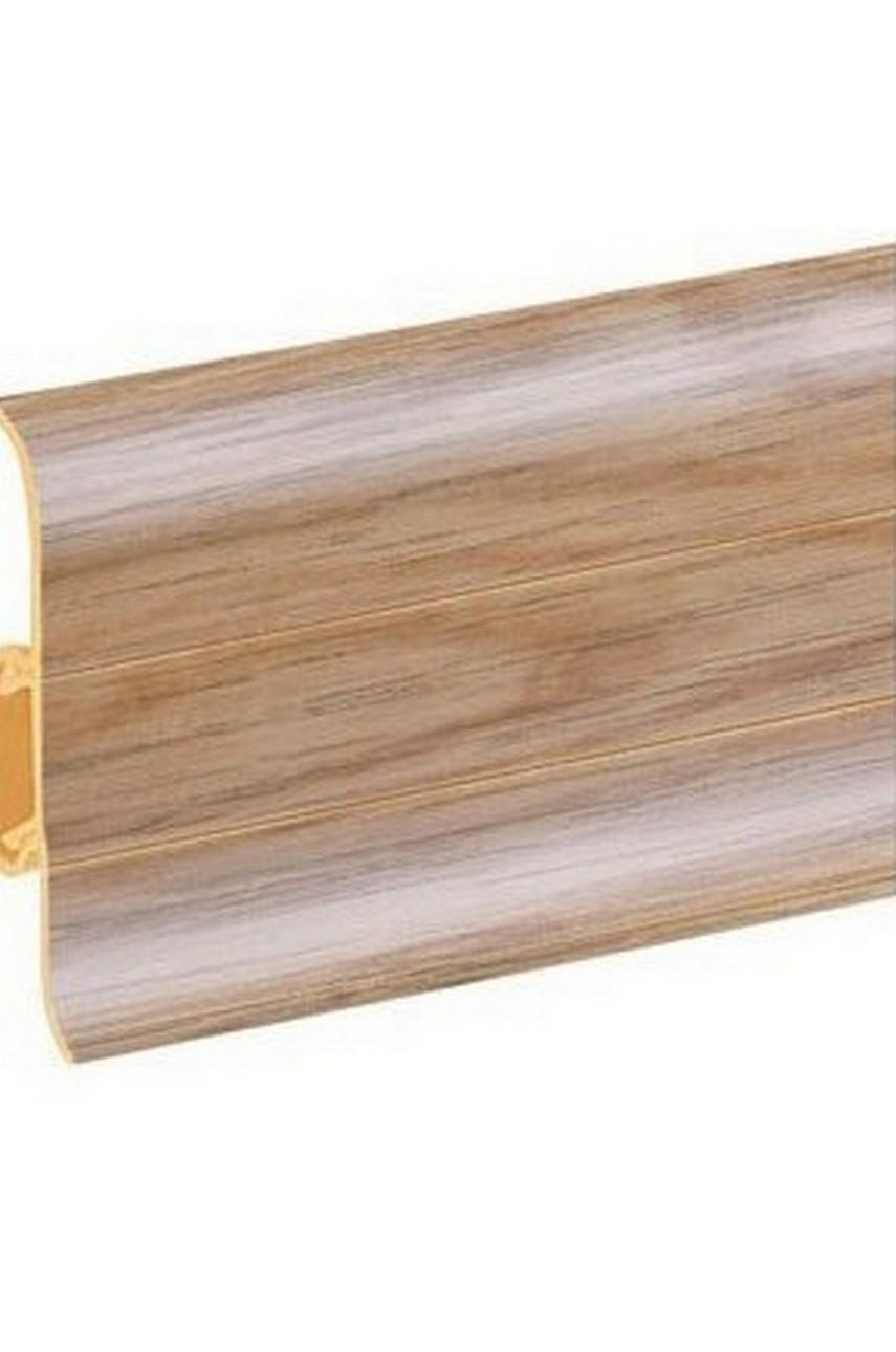 Плинтус напольный 59мм 2,5м CEZAR Premium ПВХ 147 Дуб антик