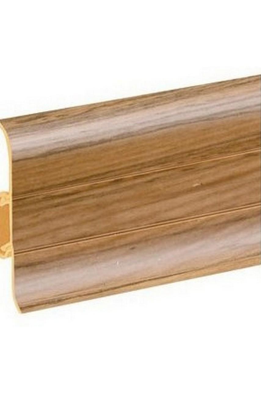 Плинтус напольный 59мм 2,5м CEZAR Premium ПВХ 149 Дуб карпатский