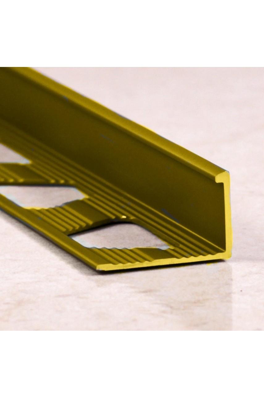Алюминиевый Г-образный Профиль Золото Глянец 10мм ПО Г10(гнущаяся)