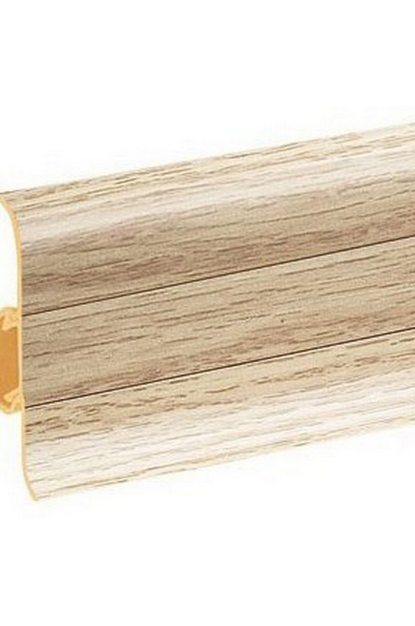 Плинтус напольный 59мм 2,5м CEZAR Premium ПВХ 155 Дуб стрит