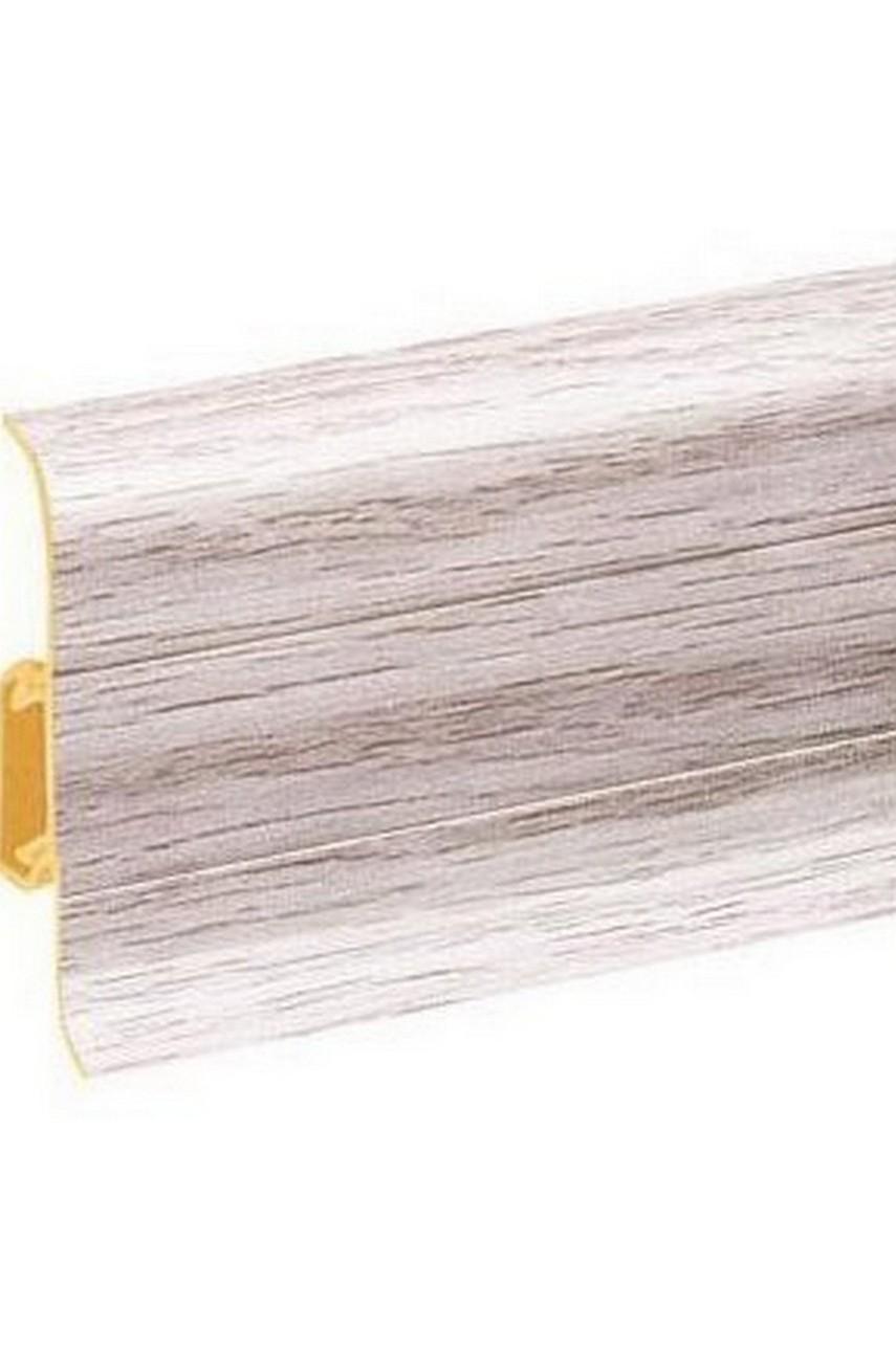 Плинтус напольный 59мм 2,5м CEZAR Premium ПВХ 157 Дуб сардиния