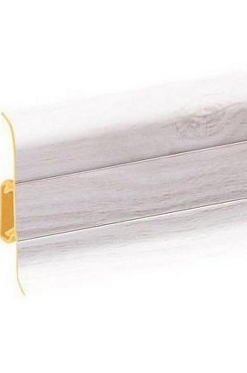 Плинтус напольный 59мм 2,5м CEZAR Premium ПВХ 163 Дуб аспен