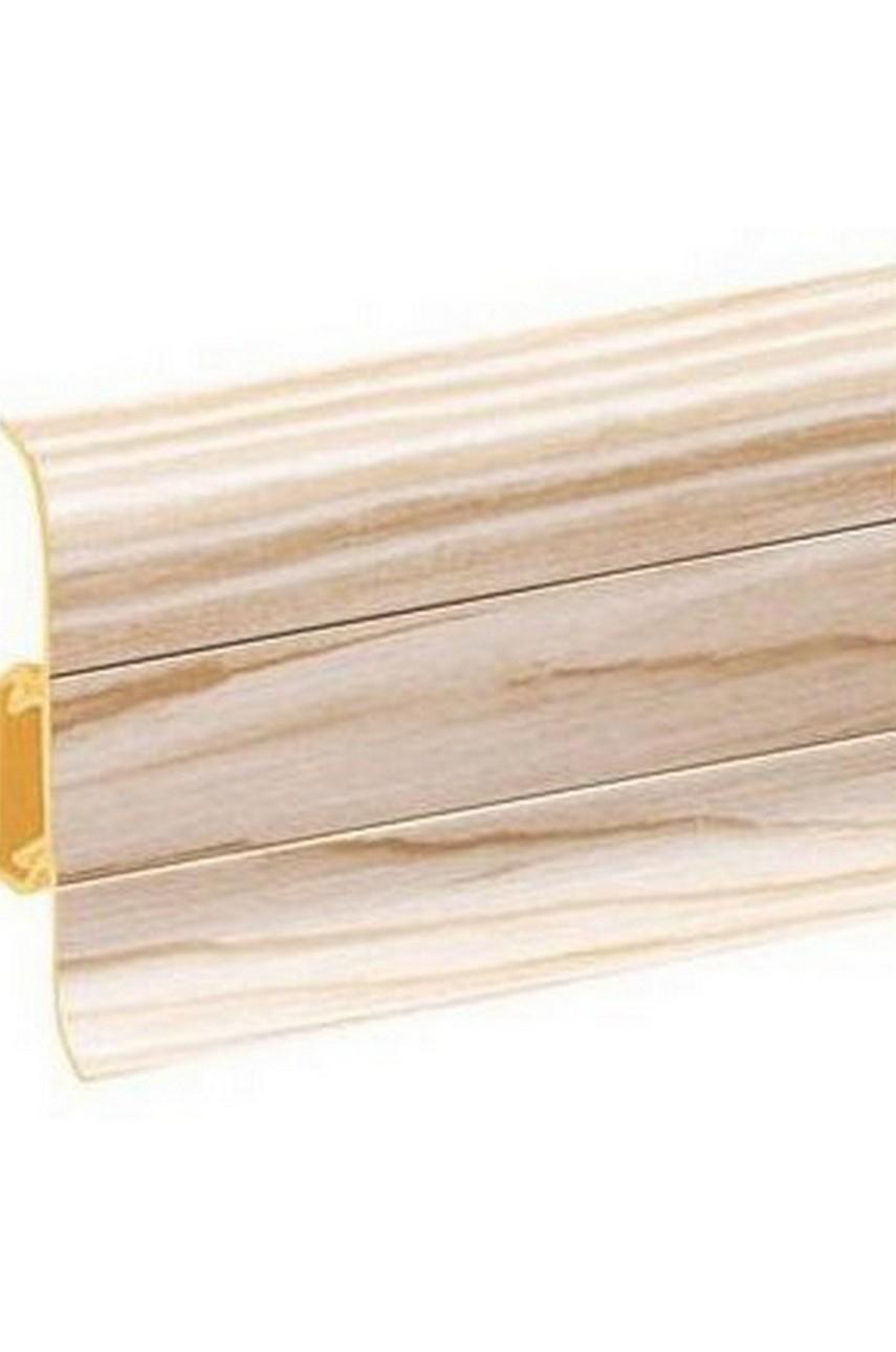 Плинтус напольный 59мм 2,5м CEZAR Premium ПВХ 165 Ясень нордический