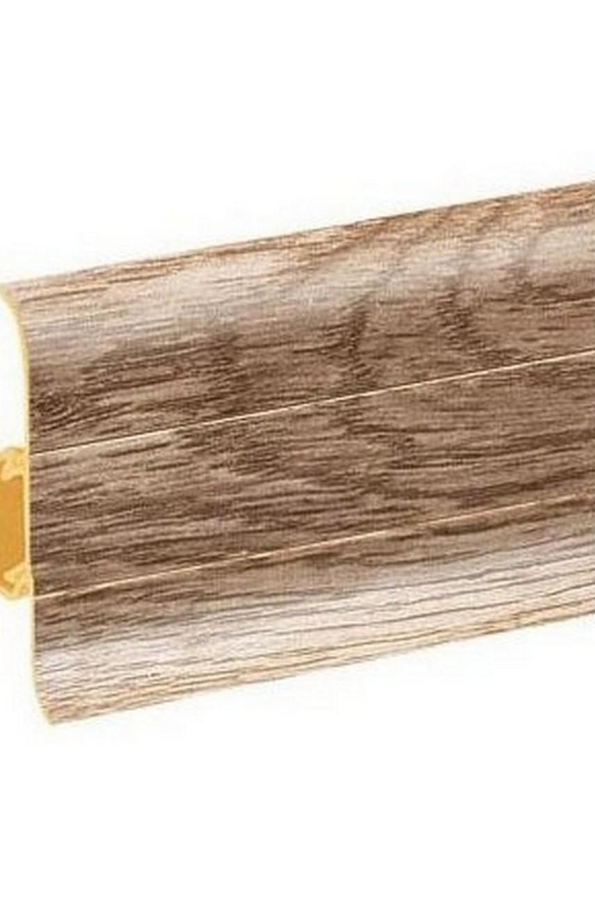Плинтус напольный 59мм 2,5м CEZAR Premium ПВХ 166 Дуб нордический