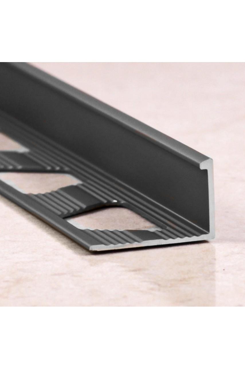 Алюминиевый Г-образный Профиль Серебро Глянец 10мм ПО Г10(гнущаяся)