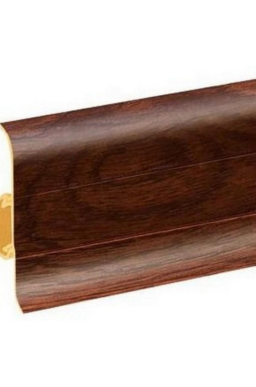 Плинтус напольный 59мм 2,5м CEZAR Premium ПВХ 169 Дуб викинг