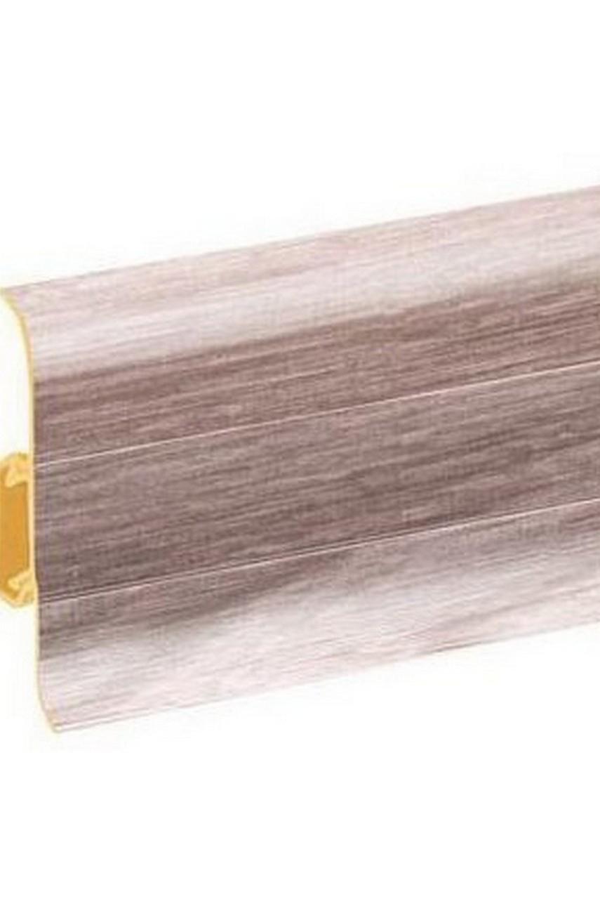 Плинтус напольный 59мм 2,5м CEZAR Premium ПВХ 174 Дуб скандинавский