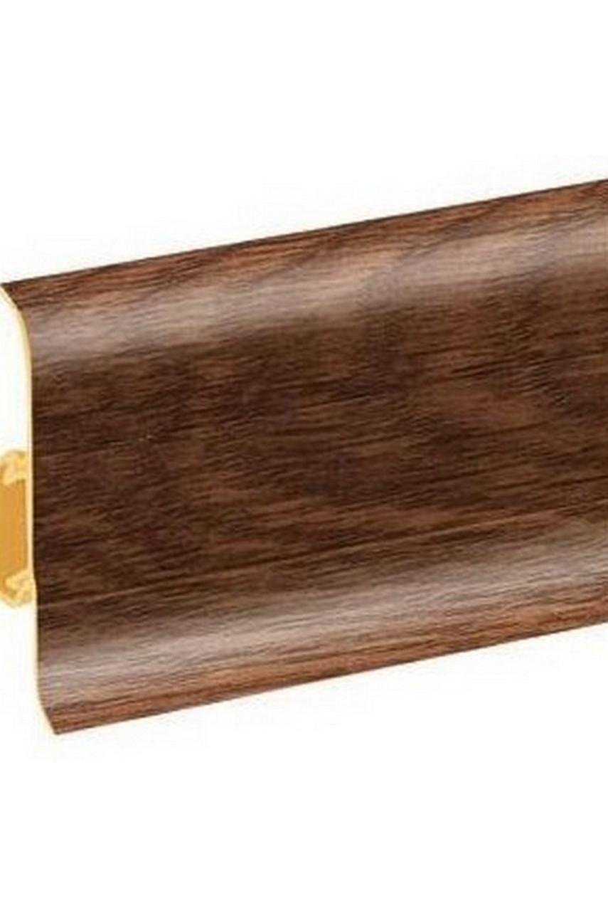 Плинтус напольный 59мм 2,5м CEZAR Premium ПВХ 176 Дуб конго