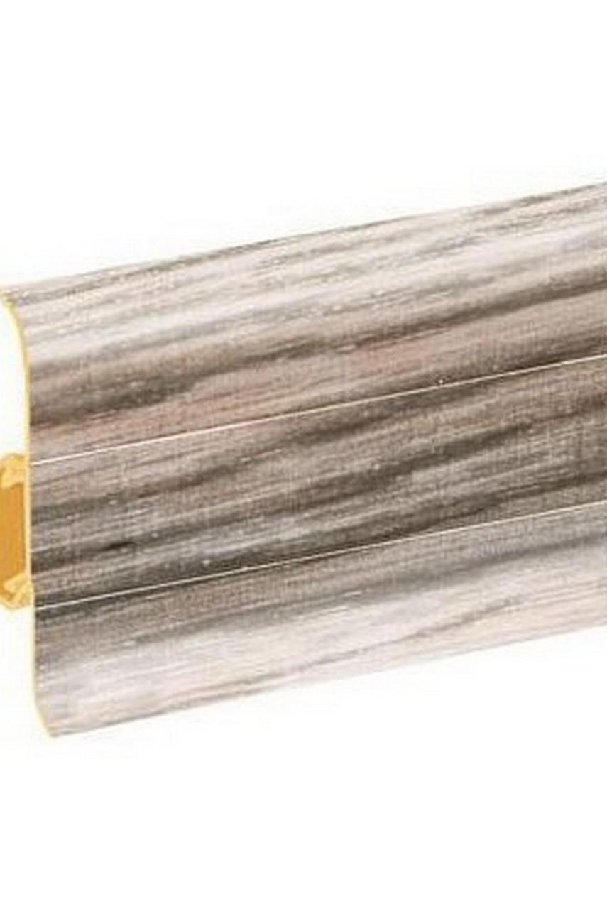 Плинтус напольный 59мм 2,5м CEZAR Premium ПВХ 178 Дуб серебристый