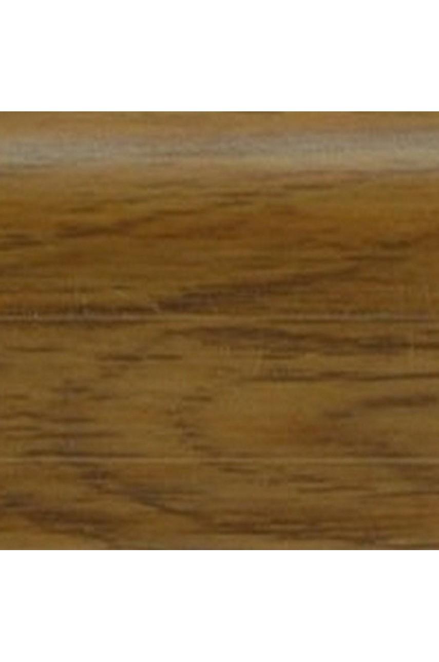 Плинтус напольный 59мм 2,5м CEZAR Premium ПВХ 198 Дуб коньяк