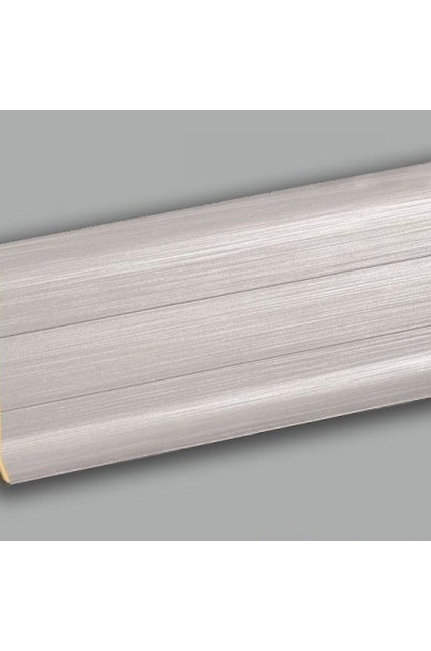 Плинтус напольный 59мм 2,5м CEZAR Premium ПВХ 201 Металлик