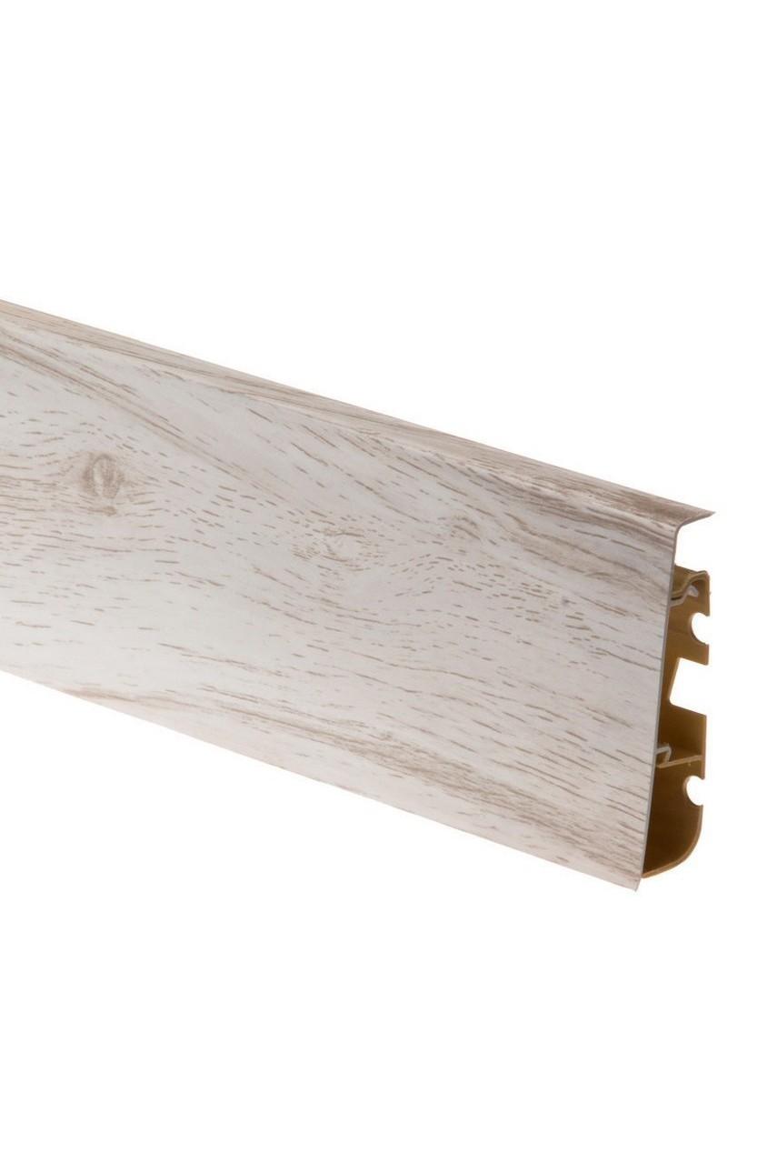 Плинтус напольный 75мм CEZAR HI-LINE PRESTIGE 2,5м. ПВХ цвет 282