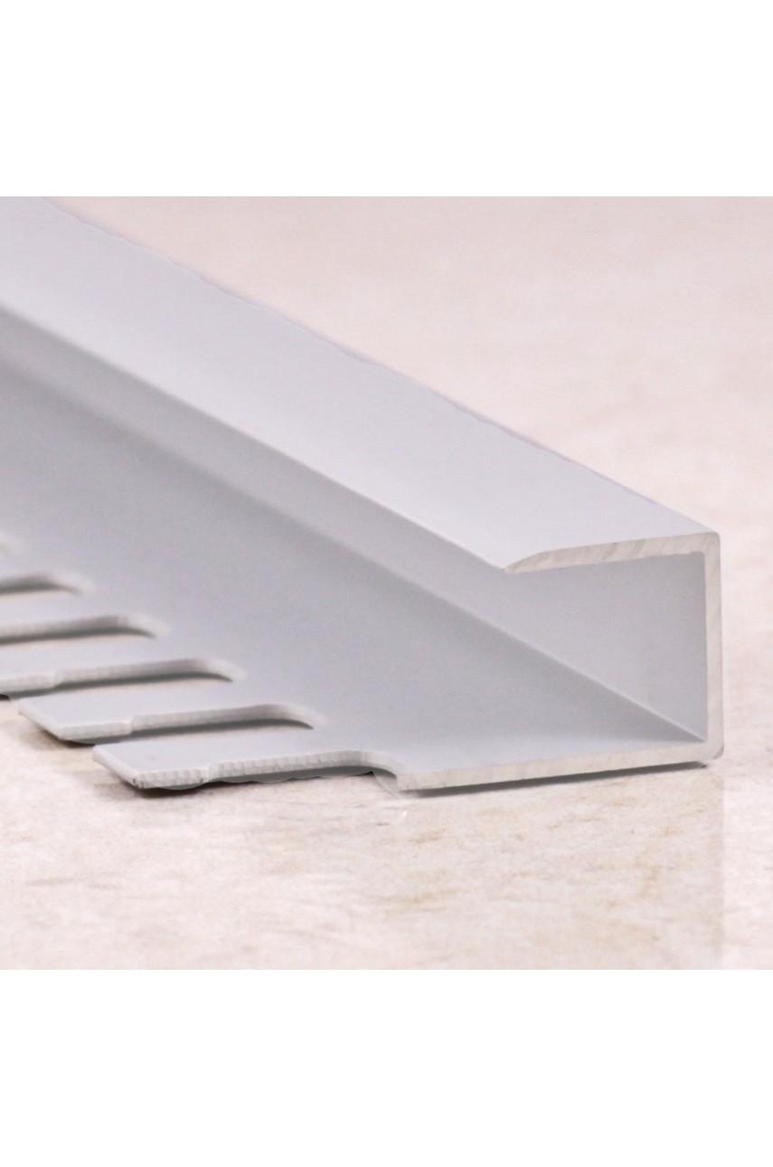Алюминиевый П-образный Профиль Серебро Матовый 8,9мм ПО П9