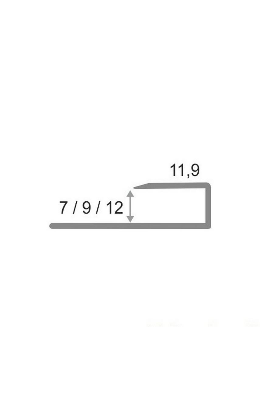 Алюминиевый П-образный Профиль Серебро Глянец 9,10мм ПО П10