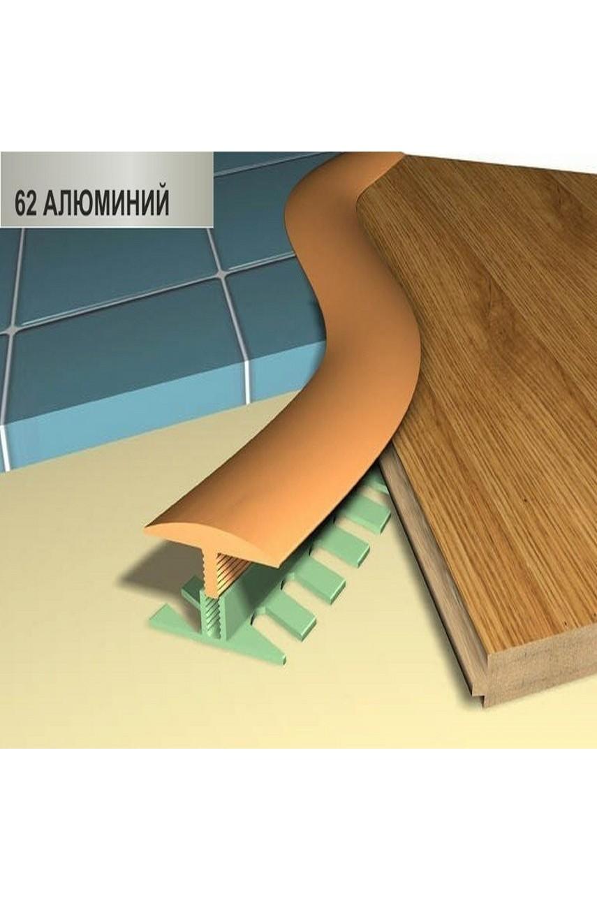 Профиль порог гибкий Step Flex 36мм 3|6 м. алюминий 62