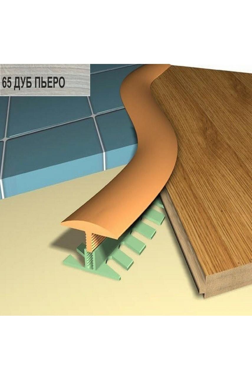 Профиль порог гибкий Step Flex 36мм 3|6 м. дуб пьеро 65