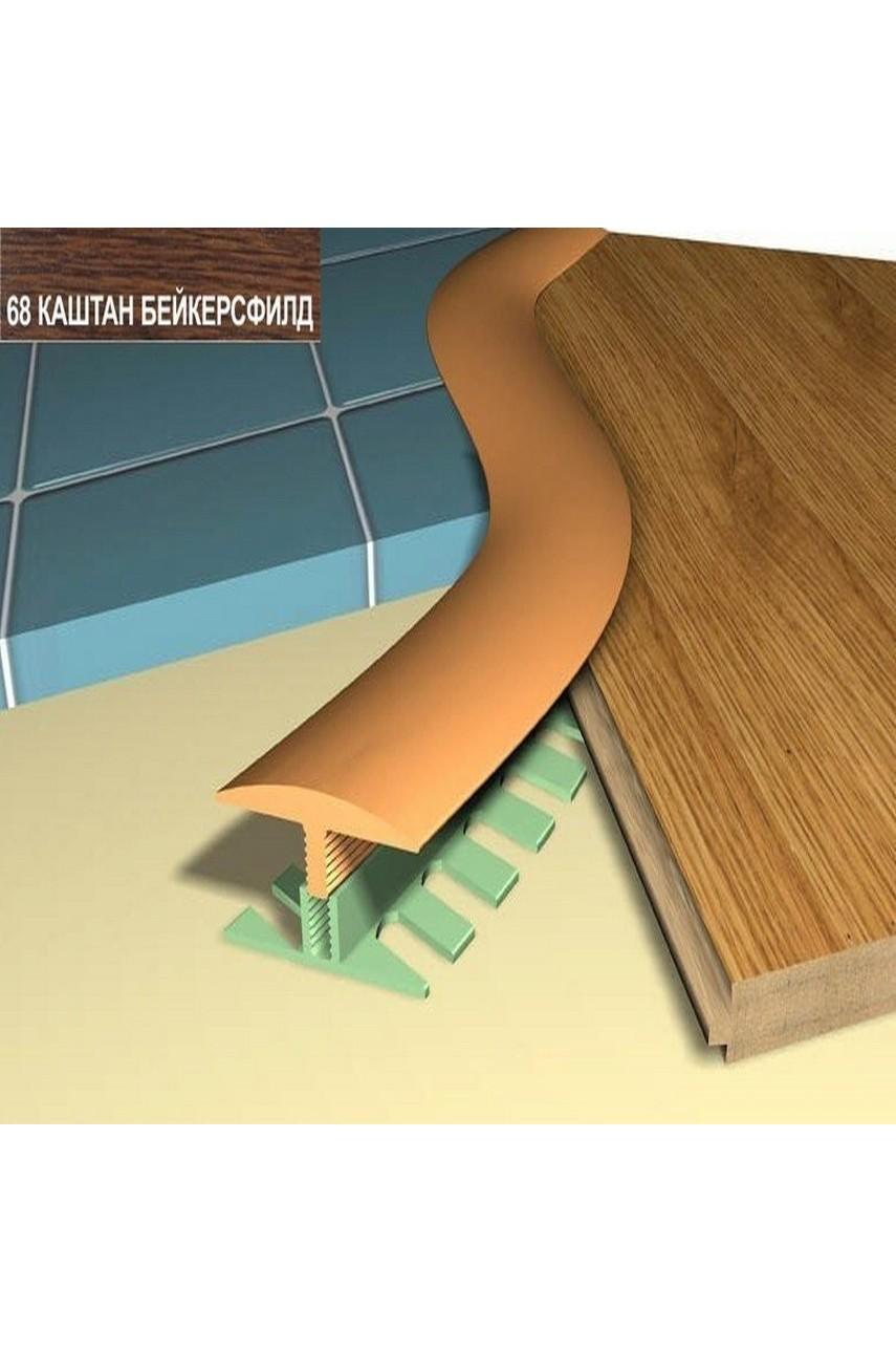 Профиль порог гибкий Step Flex 36мм 3|6 м. каштан бейкерсфилд 68