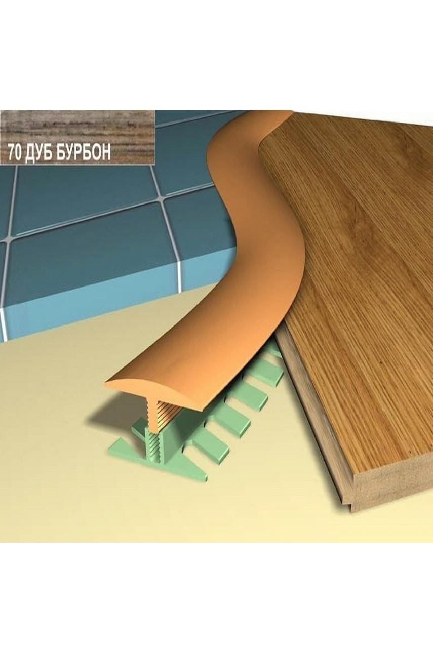 Профиль порог гибкий Step Flex 36мм 3|6 м. дуб бурбон 70