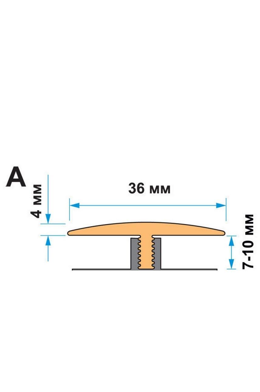 Монтажная рейка для установки эластичного профиля Степ Флекс