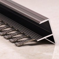 Алюминиевый F-образный Профиль для керамический плитки Бронза Глянец 10мм ПФ10