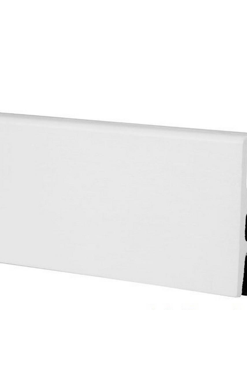 Плинтус Арбитон Интегра из дюрополимера 80мм 2.4м 01 Белый
