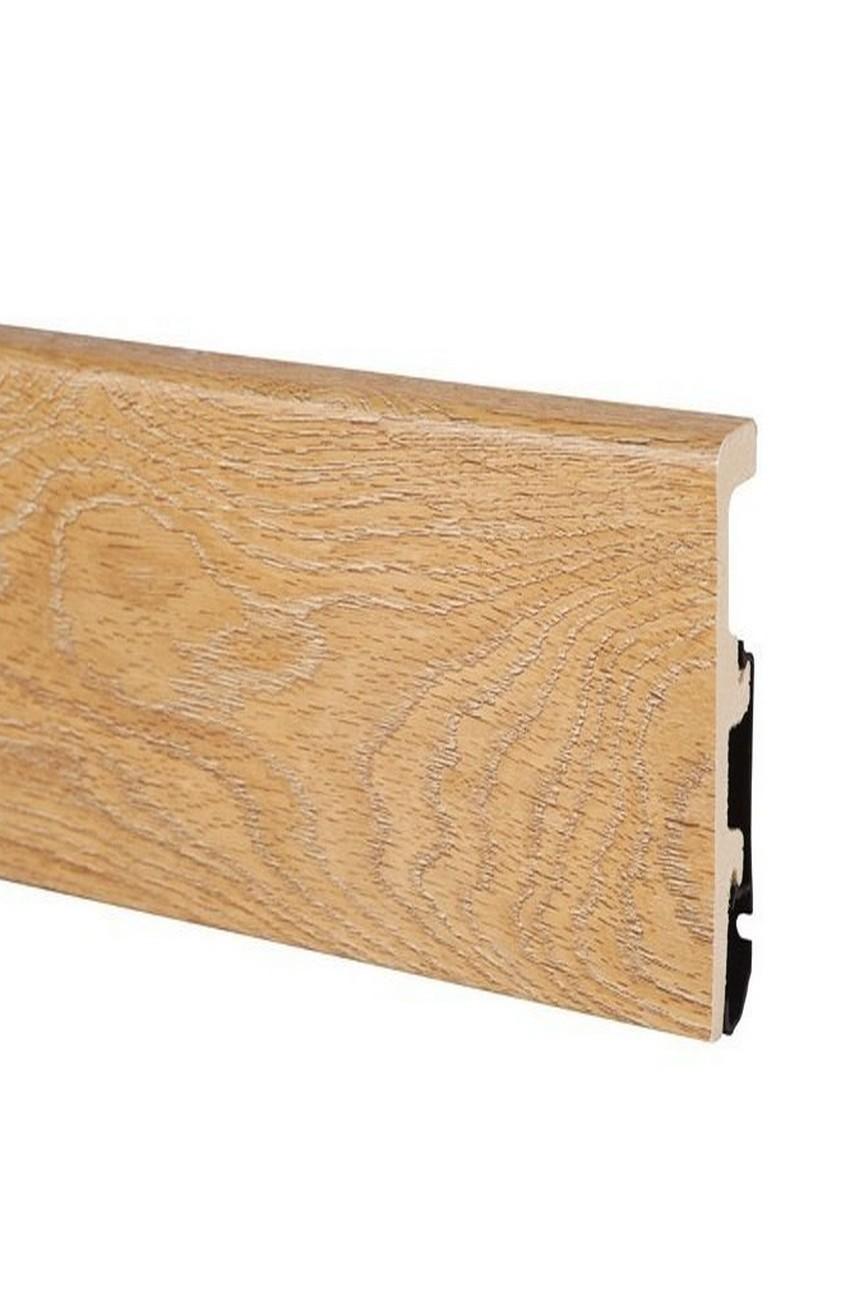 Плинтус Арбитон Интегра из дюрополимера 80мм 2.4м 16 светлый орех