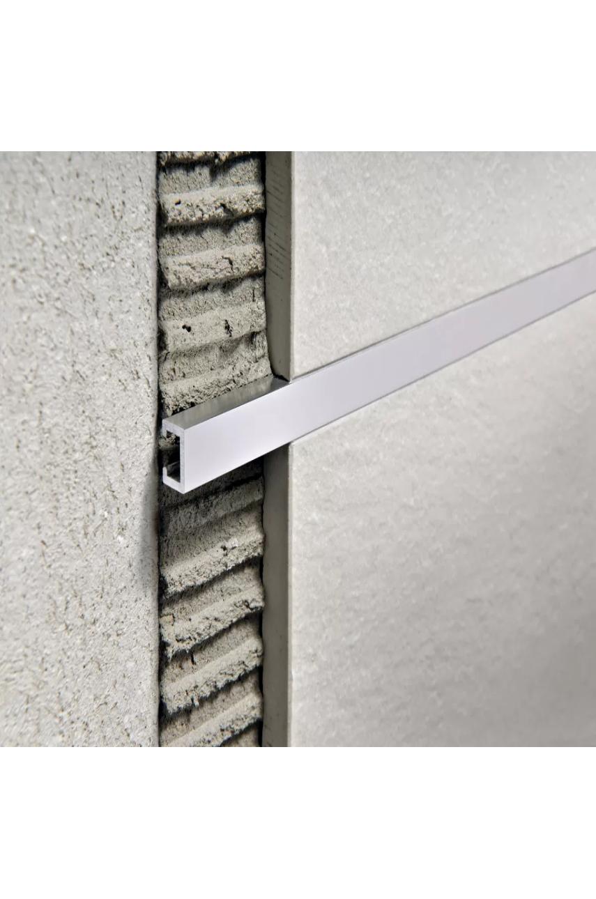 Бордюр алюминиевый анодированный шлифованный 10х7мм 2,7м PLTPBS 10 серебро Progress profiles