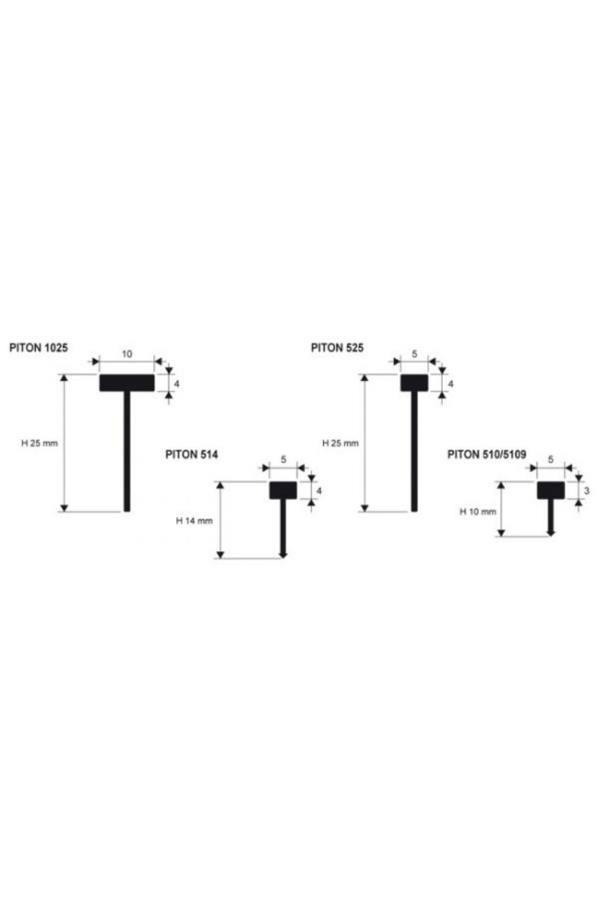 Латунная вставка полированная 5х10мм 2,7м PITON 510 Progress profiles