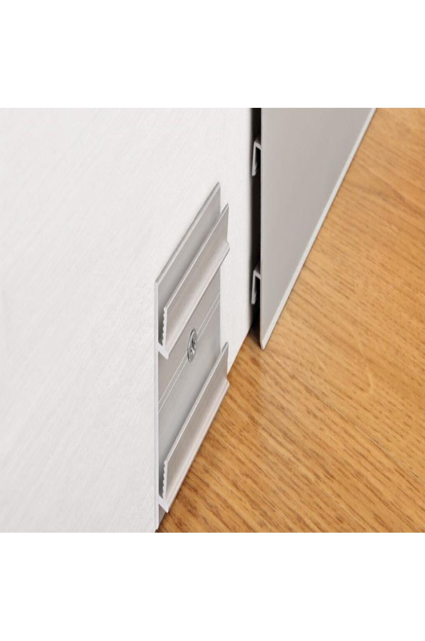 Плинтус алюминиевый анодированный 70х10мм 2м PKISPАА 70 серебро Progress profiles