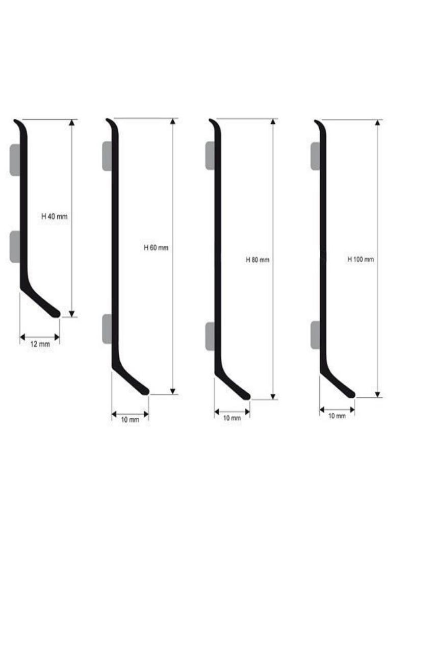 Плинтус алюминиевый анодированный самокл. 100мм 2м BTAA 100 А серебро Progress profiles