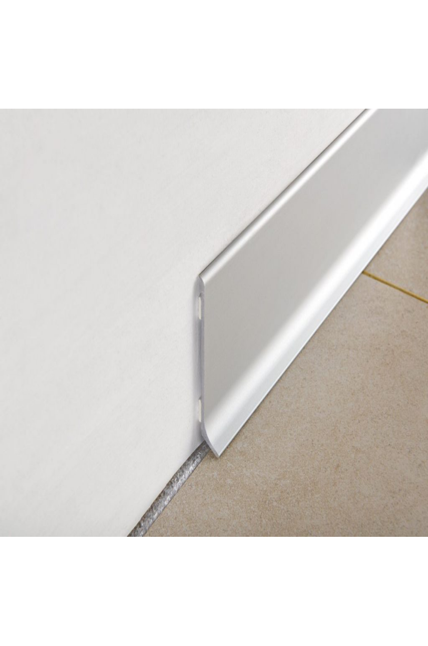 Плинтус алюминиевый анодированный самокл. 60мм 2м BTLA серебро Progress profiles