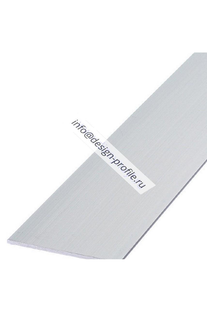 Полоса алюминиевая анодированная глянец 20х2мм 2м PIВС 202 серебро Progress profiles